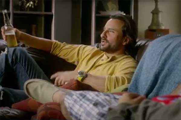 Happy Ending Saif Ali Khan With Beer Stills