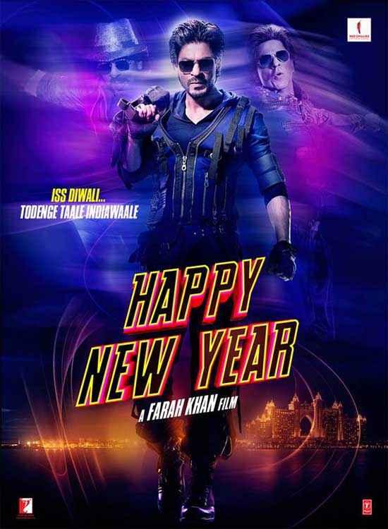 Happy New Year Shahrukh Khan Poster