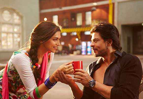 Happy New Year Shahrukh Khan Deepika Padukone With Tea Cup ...