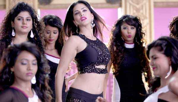 Hate Story 2 Sunny Leone Black Dress In Pink Lips Song Stills