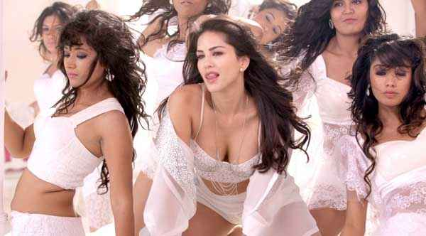 Hate Story 2 Sunny Leone Boobs Cleavage In Hot White Dress In Pink Lips Song Stills
