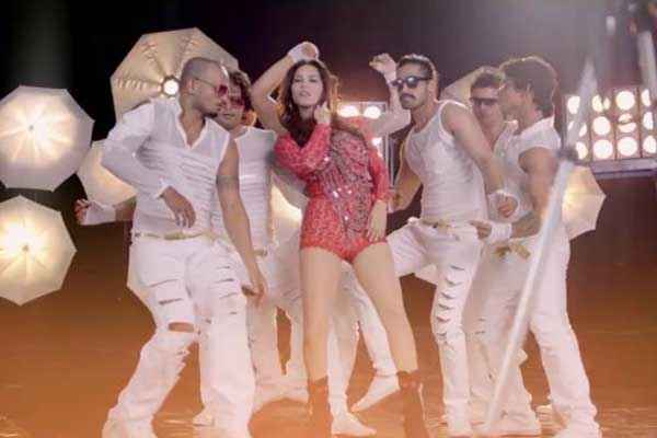 Hate Story 2 Sunny Leone In Sort Red Dress Pink Lips Stills