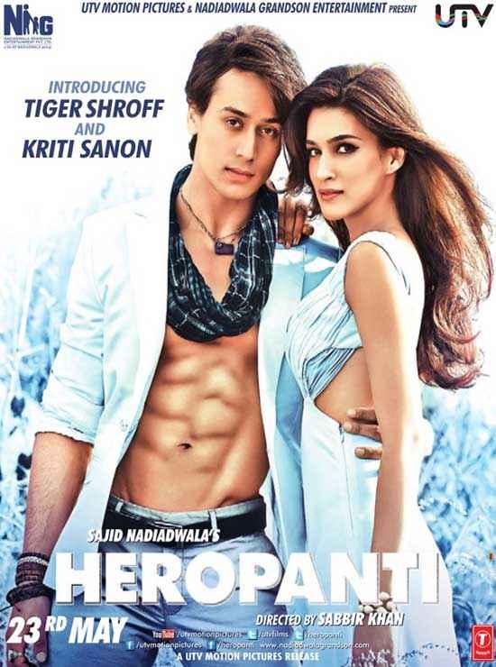 Heropanti Tiger Shroff Kriti Sanon Wallpaper Poster