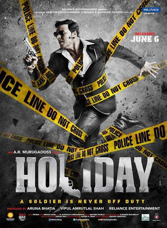 Holiday A Soldier Is Never Off Duty Akshay Kumar Action Poster
