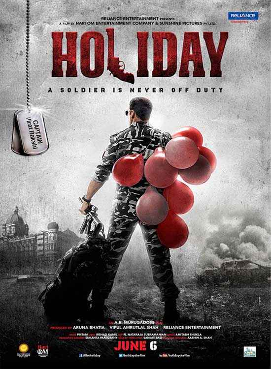Holiday A Soldier Is Never Off Duty Akshay Kumar HD Poster