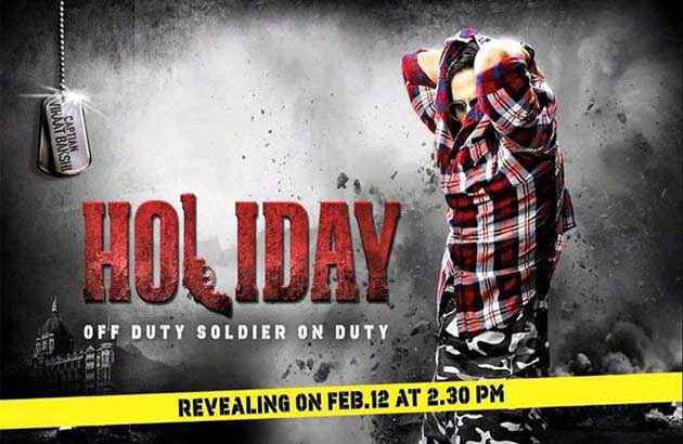 Holiday A Soldier Is Never Off Duty First Look Poster