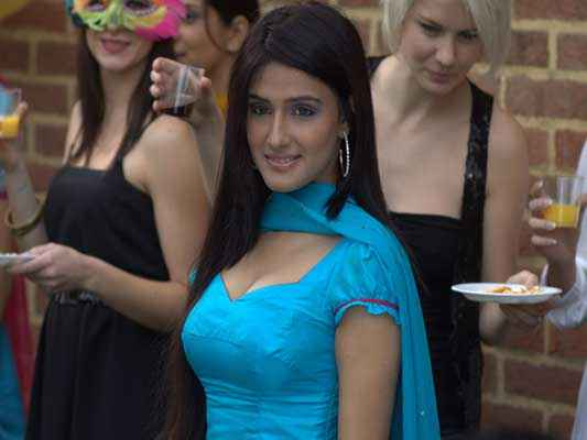 Honour Killing Zara Sheikh In Blue Dress Stills