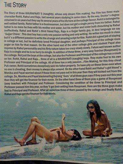 Hum Hain Teen Khurafaati Bikini Poster