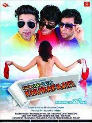 Hum Hain Teen Khurafaati Hot Poster