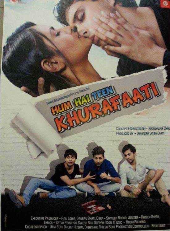 Hum Hain Teen Khurafaati Kissing Poster