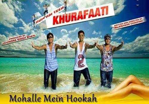 Hum Hain Teen Khurafaati Mohalle Mein Hookah Song Poster