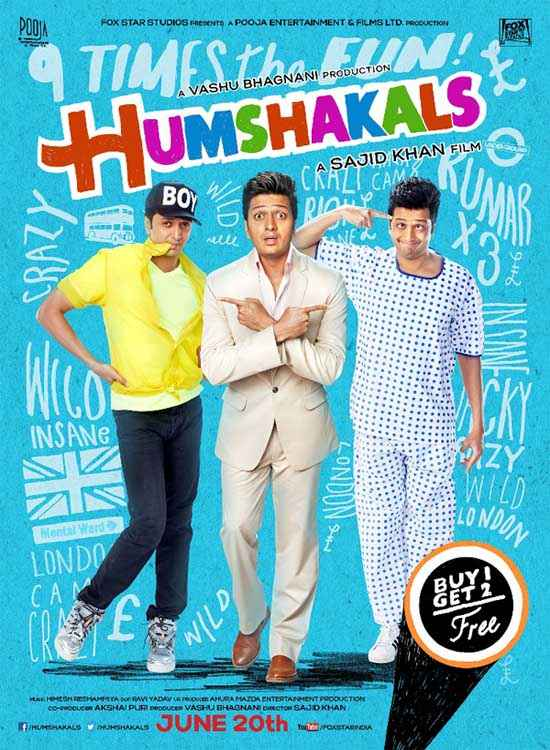 Humshakals Riteish Deshmukh Poster