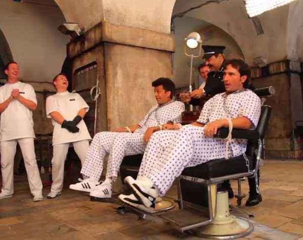 Humshakals Riteish Deshmukh Saif Ali Khan In Jail Scene Stills