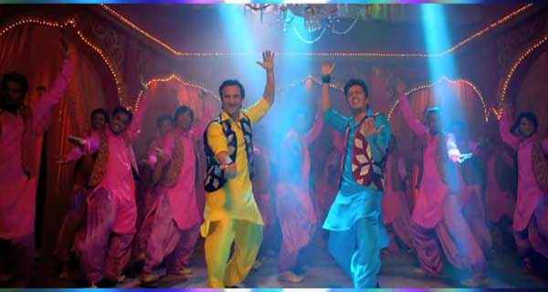 Humshakals Saif Ali Khan In Yellow Kurta Pajama Riteish Deshmukh In Blue Kurta Pajama Stills