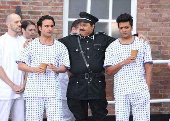 Humshakals Saif Ali Khan Riteish Deshmukh In Jail With Jailer Stills