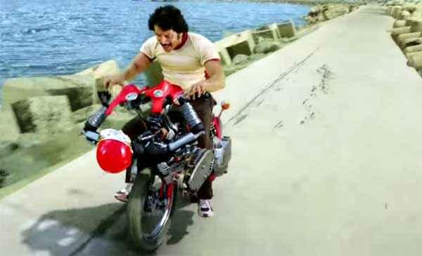 I Powerstar Srinivasan On Bike Stills