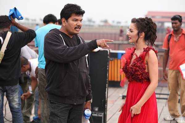 I Suresh Gopi Amy Jackson In Red Dress Stills