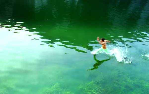 I Upen Patel Runing in Water Stills