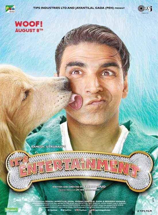 Its Entertainment Akshay Kumar And Dog Poster