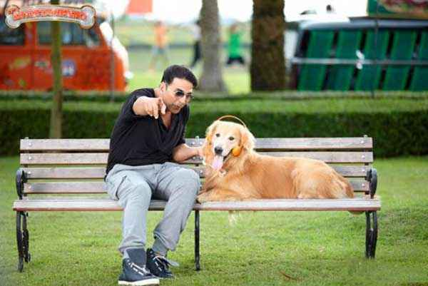 Its Entertainment Akshay Kumar And Dog Stills
