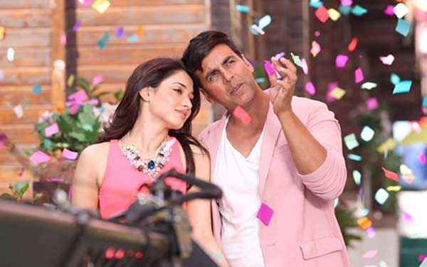 Its Entertainment Akshay Kumar Tamannaah Bhatia Pink Dress Stills