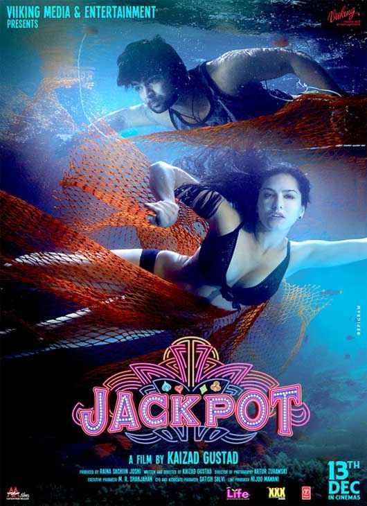 Jackpot 2013 Sachiin Joshi Sunny Leone Bikini Wallpaper Poster