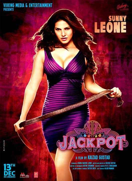 Jackpot 2013 Sunny Leone Sexy Wallpaper Poster