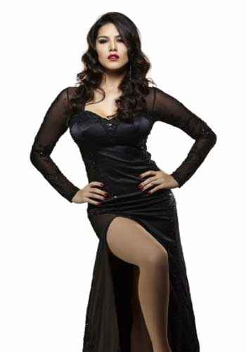 Jackpot 2013 Sunny Leone Hot Black Dress Stills