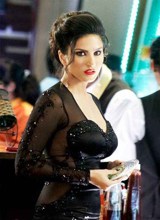 Jackpot 2013 Sunny Leone Hot In Black Dress Stills