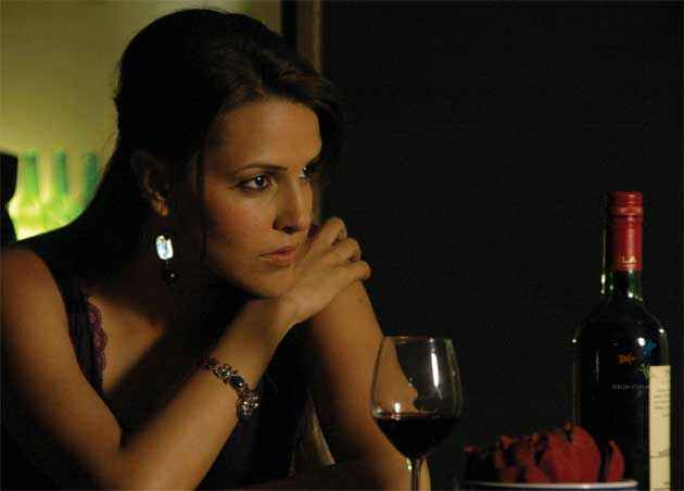 Julie (2004) Neha Dhupia With Drink Stills