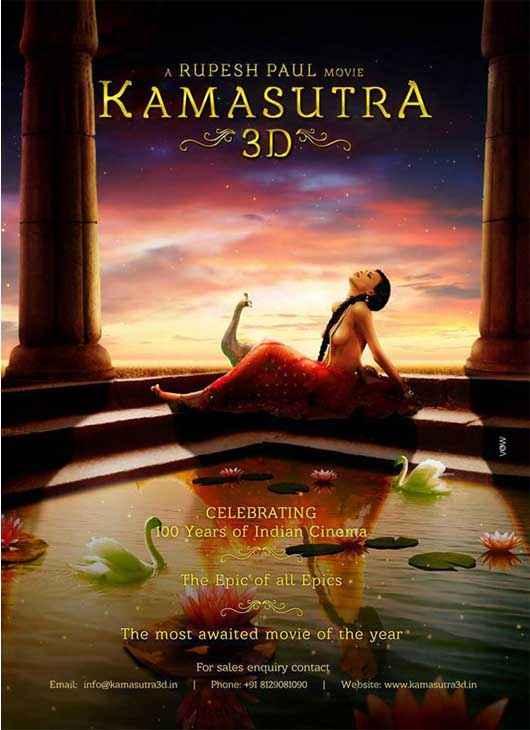 Kamasutra 3D Sherlyn Chopra Hot Wallpaper Poster