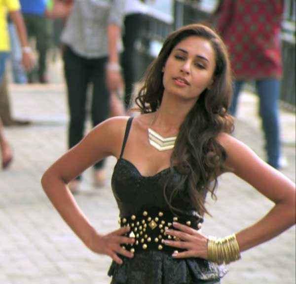 Karle Pyaar Karle Hasleen Kaur Hot Black Dress Stills