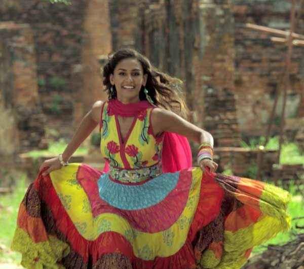 Karle Pyaar Karle Hasleen Kaur In Red Yellow Shoot Stills