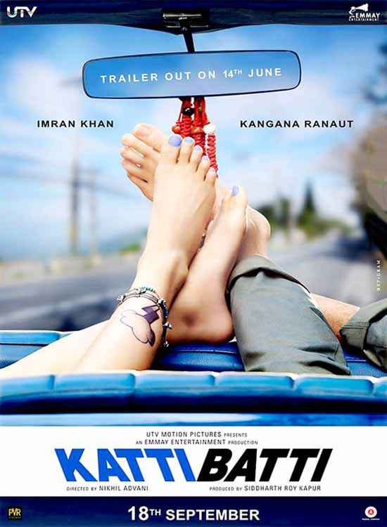 Katti Batti Imran Khan Kangna Ranaut Legs Poster