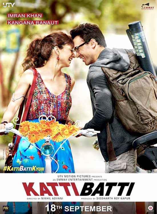 Katti Batti Imran Khan Kangna Ranaut Romance Poster