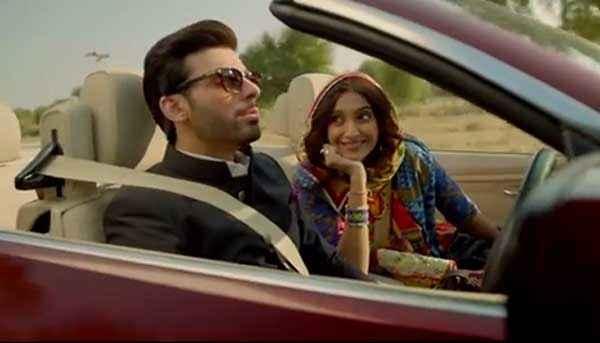 Khoobsurat 2014 Fawad Khan Sonam Kapoor In Car Stills