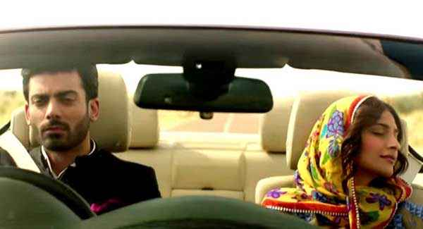 Khoobsurat 2014 Fawad Khan Sonam Kapoor With Car Stills