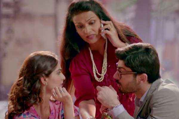 Khoobsurat 2014 Sonam Kapoor Fawad Khan Discussion Pics Stills
