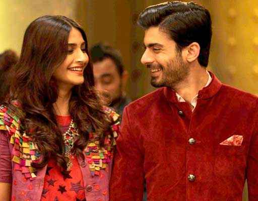 Khoobsurat 2014 Sonam Kapoor Fawad Khan Looking Stills