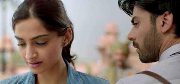 Khoobsurat 2014 Sonam Kapoor Fawad Khan Romance Stills