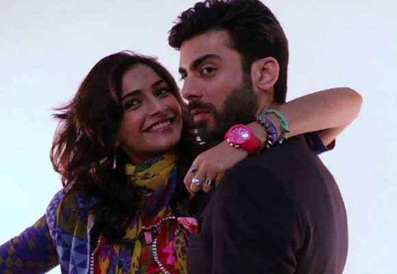 Khoobsurat 2014 Sonam Kapoor Fawad Khan Romantic Pics Stills