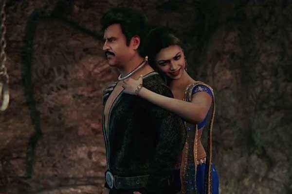 Kochadaiyaan Rajinikanth Deepika Padukone Romance Stills