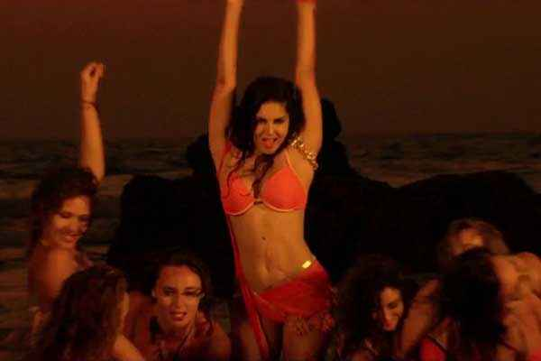 Kuch Kuch Locha Hai Sunny Leone Red Bikini Wallpaper Stills