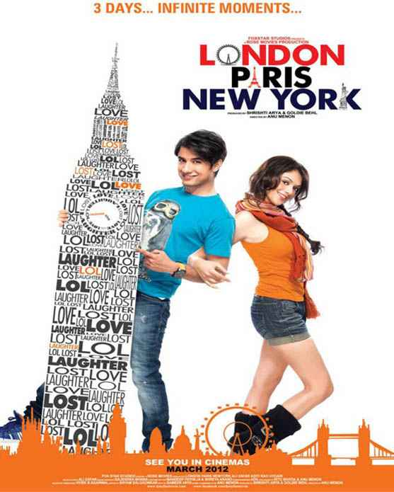 London Paris New York picture Poster