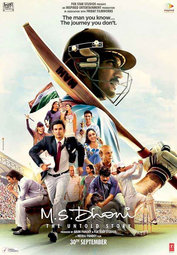 M.S. Dhoni - The Untold Biopic HD Wallpaper Poster