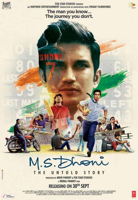 M.S. Dhoni - The Untold Biopic Sushant Singh Rajput Poster