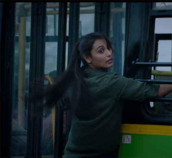 Mardaani Rani Mukerji Action With Bus Stills