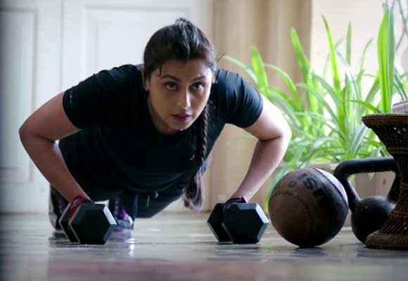 Mardaani Rani Mukerji Exercise In Jim Stills