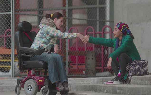 Margarita with a Straw Kalki Koechlin On WheelChair Stills