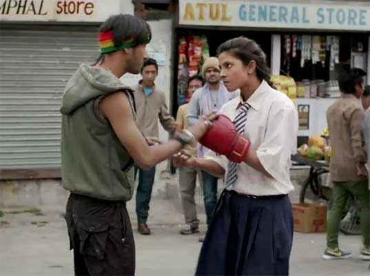 Mary Kom Priyanka Chopra Boxing In School Dress Stills